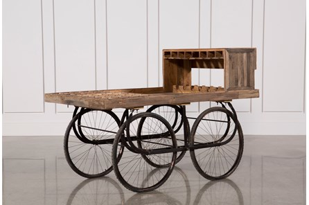 Sawan Finish Bar Cart On Wheels