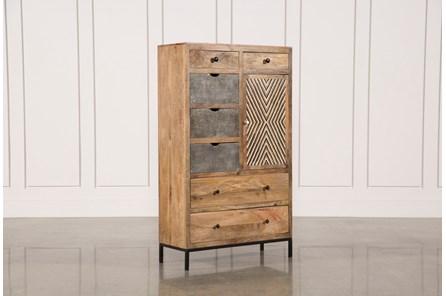 Mango Wood Multi Door Wardrobe Cabinet