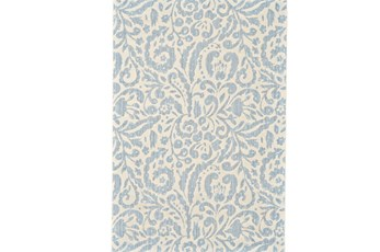 26X48 Rug-Light Blue Paisley Floral