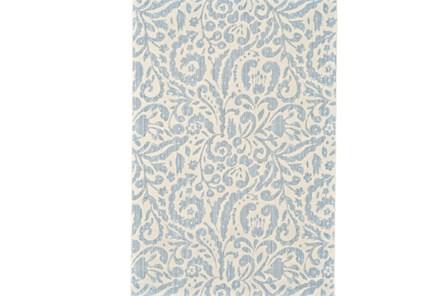 26X48 Rug-Light Blue Paisley Floral