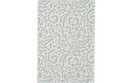63X90 Rug-Light Blue Paisley Floral