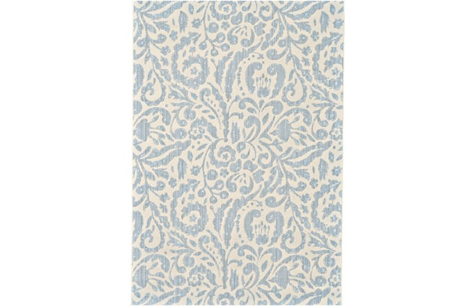 63X90 Rug-Light Blue Paisley Floral - 360