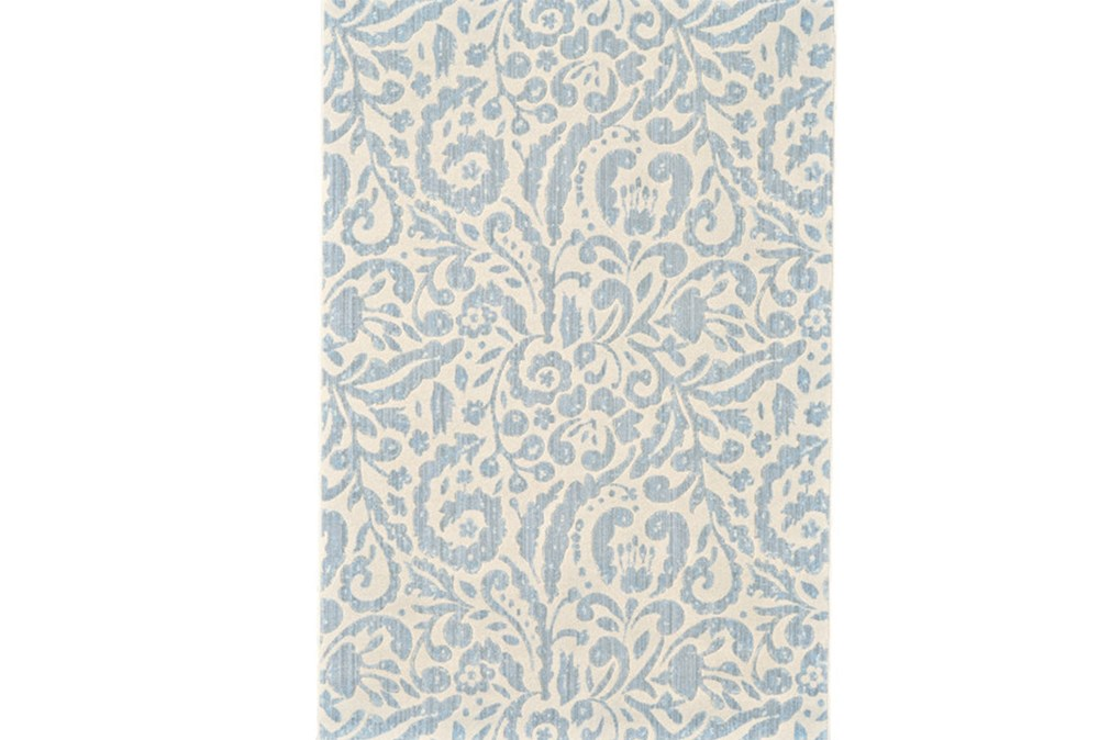 122X165 Rug-Light Blue Paisley Floral
