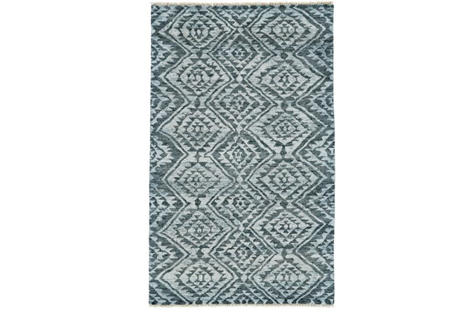 24X36 Rug-Aqua And Green Ganado Pattern - 360