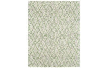 96X132 Rug-Green And Oatmeal Shibori Harlequin