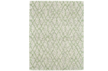 114X162 Rug-Green And Oatmeal Shibori Harlequin