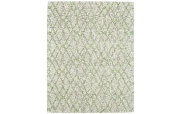 24X36 Rug-Green And Oatmeal Shibori Harlequin