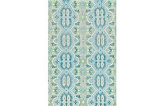 48X72 Rug-Aqua And Green Hand Knotted Global Pattern