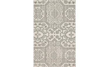 66X102 Rug-Graphite Hand Knotted Global Pattern
