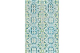 102X138 Rug-Aqua And Green Hand Knotted Global Pattern