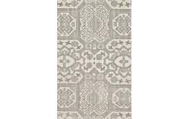 102X138 Rug-Graphite Hand Knotted Global Pattern