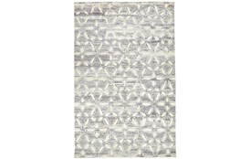 24X36 Rug-Graphite Hand Knotted Distressed Cutwork