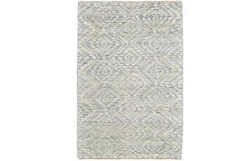 93X117 Rug-Mist Blue Ganando Pattern
