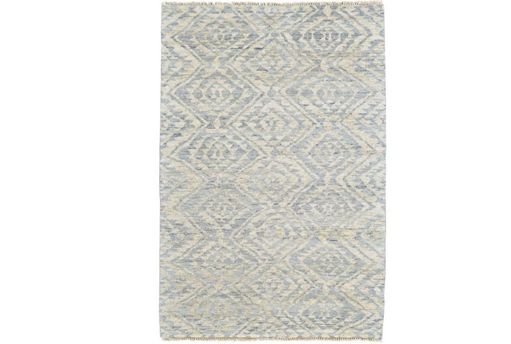 102X138 Rug-Mist Blue Ganando Pattern
