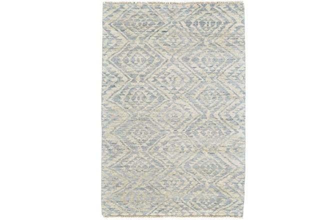 102X138 Rug-Mist Blue Ganando Pattern - 360