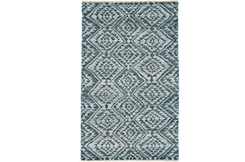 102X138 Rug-Aqua And Green Ganado Pattern