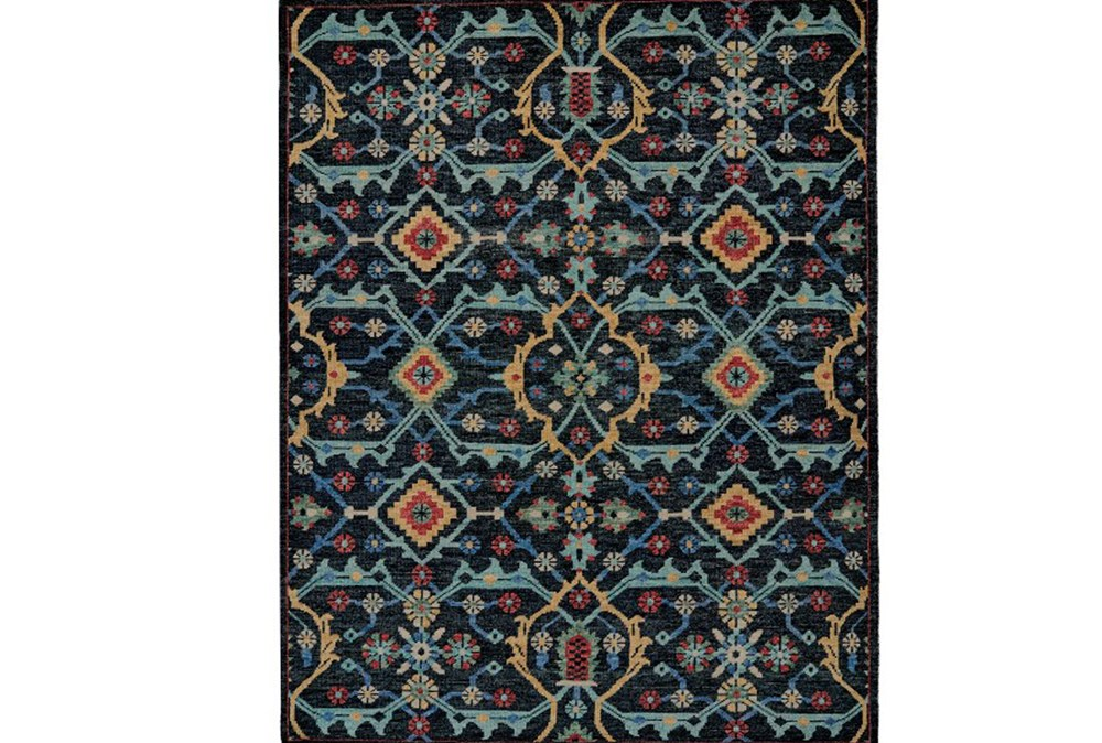 66X102 Rug-Hand Knotted Saturated Blue Traditonal