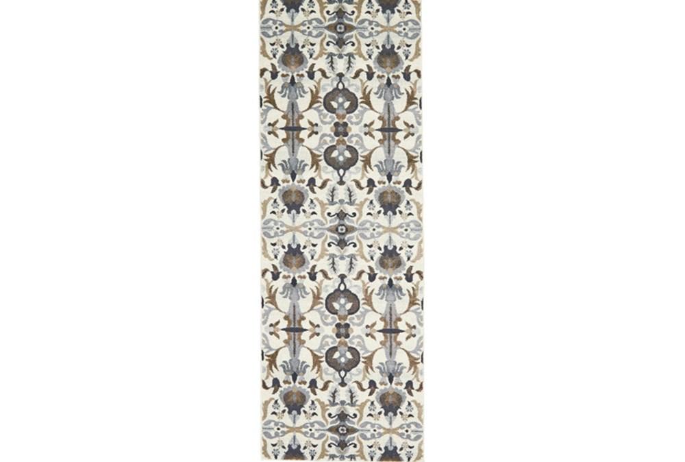 34X94 Rug-Granite Deco Floral