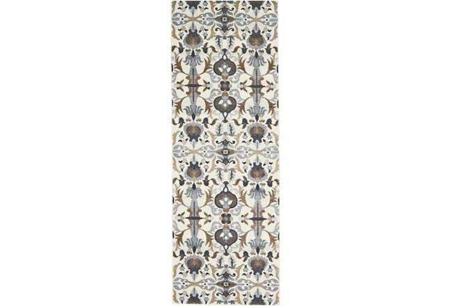 34X94 Rug-Granite Deco Floral - 360