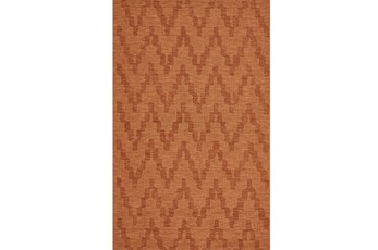 42X66 Rug-Orange Tonal Flamestitch