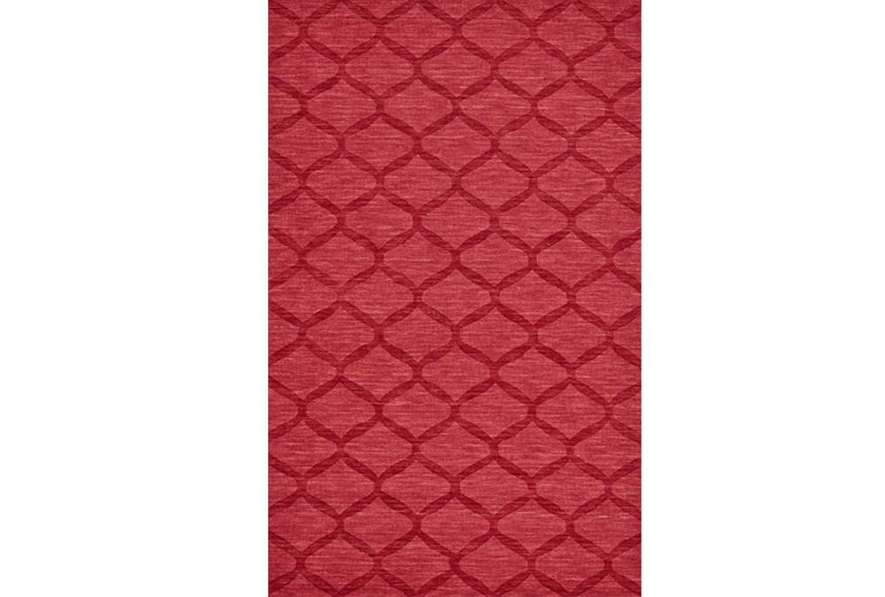 60X96 Rug-Crimson Red Tonal Links