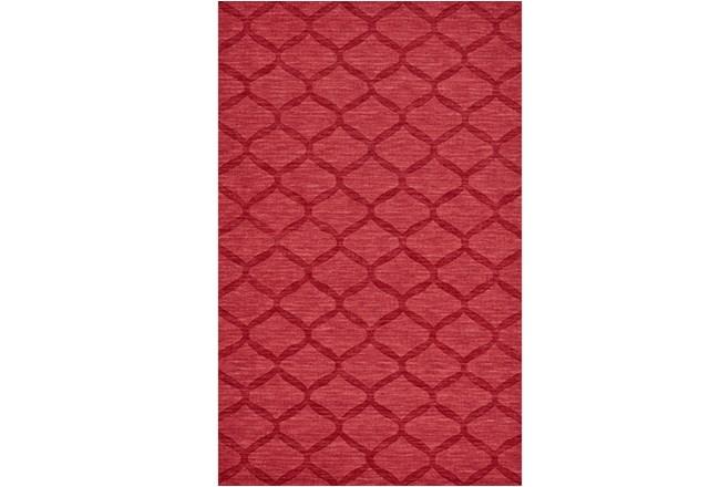 60X96 Rug-Crimson Red Tonal Links - 360
