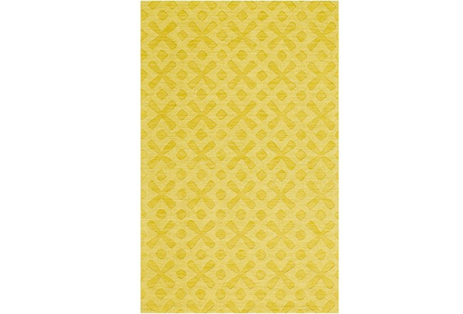 60X96 Rug-Yellow Tonal Starbursts - 360