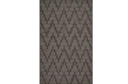 60X96 Rug-Charcoal Grey Tonal Flamestitch