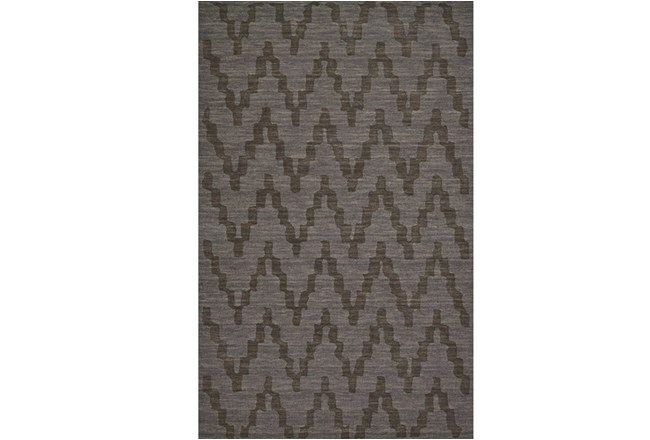 60X96 Rug-Charcoal Grey Tonal Flamestitch - 360