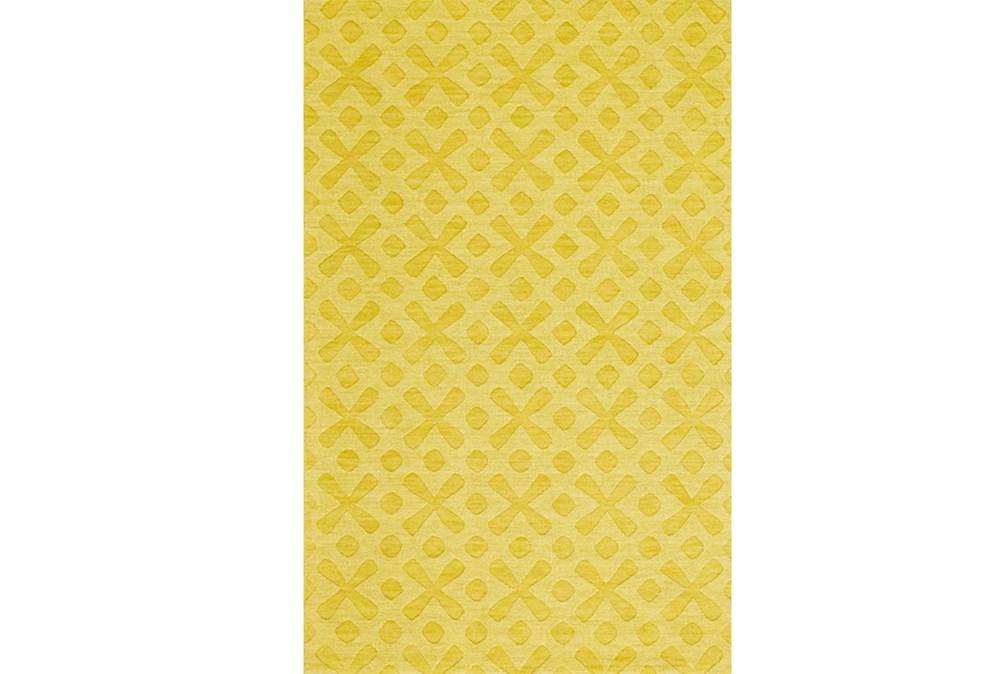 96X132 Rug-Yellow Tonal Starbursts