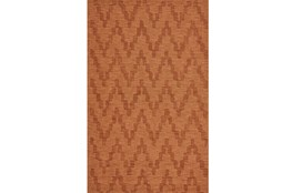 96X132 Rug-Orange Tonal Flamestitch