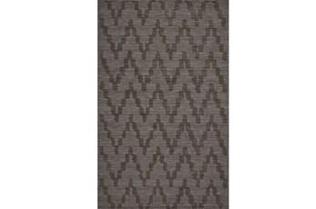 96X132 Rug-Charcoal Grey Tonal Flamestitch
