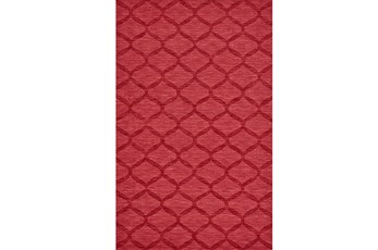 114X162 Rug-Crimson Red Tonal Links