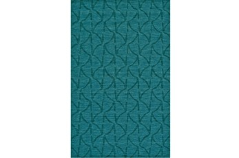 114X162 Rug-Teal Tonal Ripples