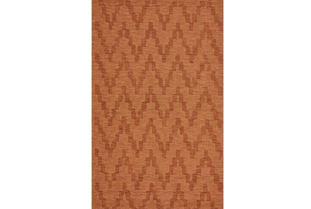 114X162 Rug-Orange Tonal Flamestitch