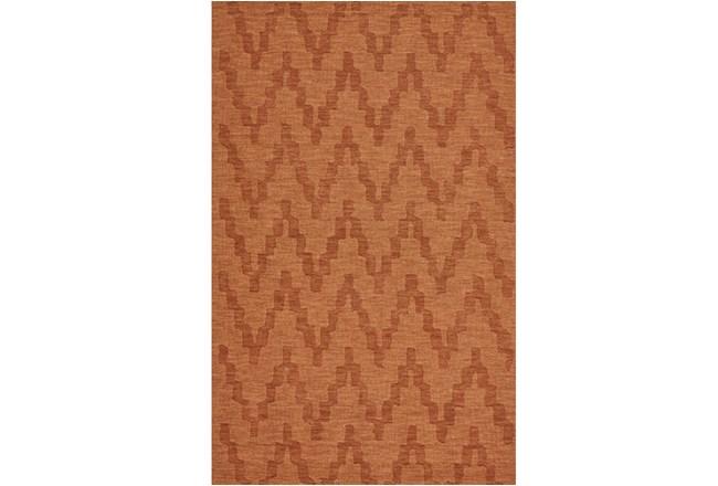 114X162 Rug-Orange Tonal Flamestitch - 360
