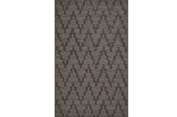114X162 Rug-Charcoal Grey Tonal Flamestitch