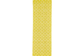 30X96 Rug-Yellow Tonal Starbursts