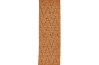 30X96 Rug-Orange Tonal Flamestitch