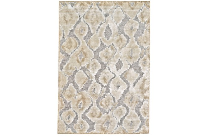 63X90 Rug-Pewter And Cream Ikat - 360
