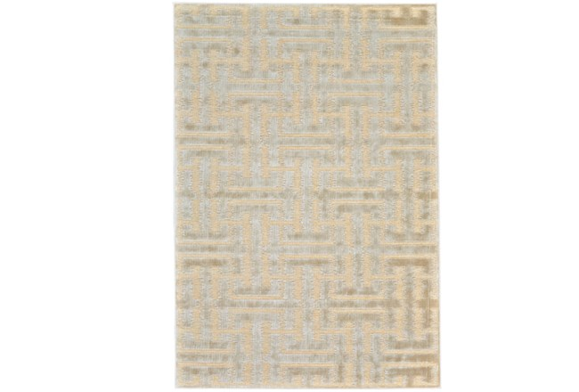 63X90 Rug-Cream And Silver Links - 360