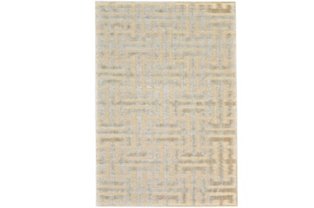 116X151 Rug-Cream And Silver Links