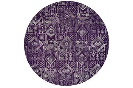 96 Inch Round Rug-Violet Turkish Pattern