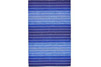 24X36 Rug-Indigo Ombre Stripe Flat Weave