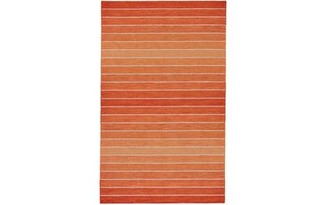 48X72 Rug-Orange Ombre Stripe Flat Weave