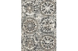 96X132 Rug-Stone Grey Distressed Round Medallions