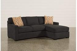 Taren Reversible Sofa/Chaise Sleeper W/Storage Ottoman