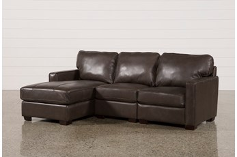 Redford Coffee 3 Piece Left Facing Chaise Sectional