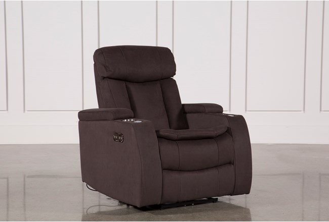 Celebrity Chocolate Home Theater Recliner W/Power Headrest - 360