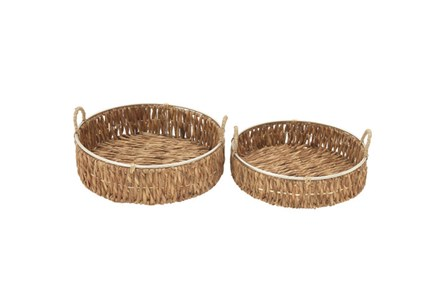 2 Piece Set Seagrass Baskets